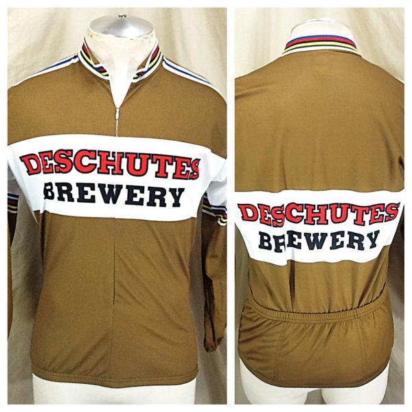 World Jerseys Deschutes Brewery (Large) Retro 3/4 Zip Up Long Sleeve Cycling Jersey