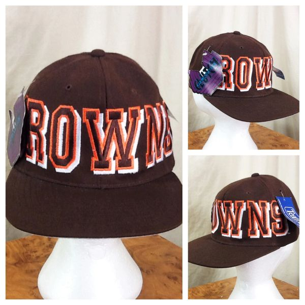New!! Vintage 90's Cleveland Browns Retro NFL Football Embroidered Snap Back Hat