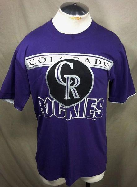 Vintage 1992 Colorado Rockies Baseball Club (Med/Large) Retro MLB Graphic Purple T-Shirt