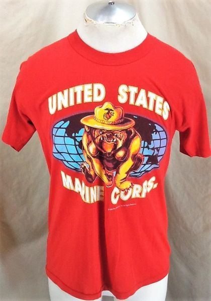 "Vintage 1995 United States Marine Corps ""Bulldog"" (Med/Large) Retro Armed Forces Graphic T-Shirt"