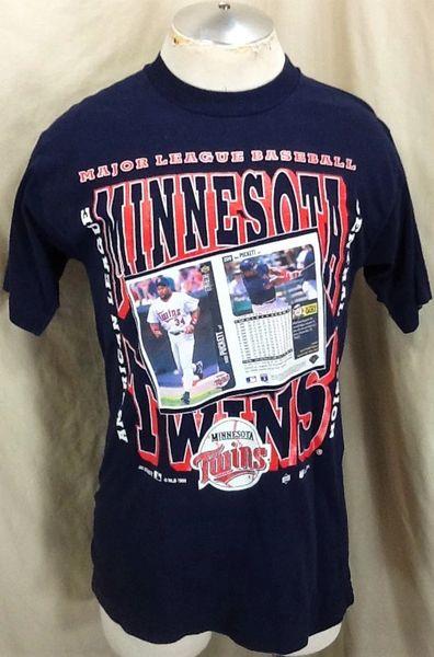 Vintage 1996 Minnesota Twins Kirby Puckett #34 (Med) Retro MLB Baseball Career Stats Graphic T-Shirt