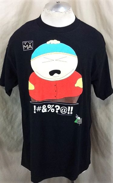 "Vintage 1997 South Park ""Cartman Swearing"" (XL) Retro Comedy Central Graphic Cartoon T-Shirt"