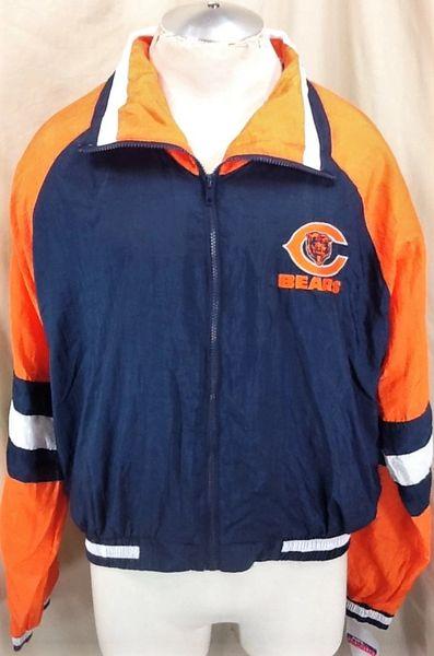 New! Vintage 90's Locker Line Chicago Bears (Large) Retro NFL Football Windbreaker Jacket