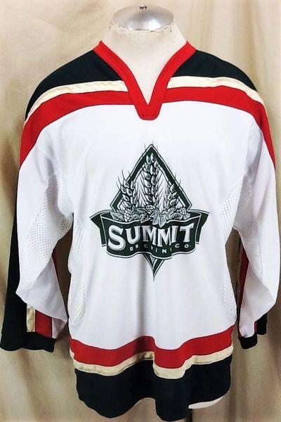 Retro CCM Summit Brewing Company (Medium) Knit Breweriana Pullover Hockey Jersey