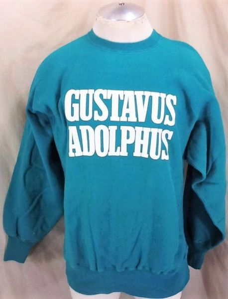 "Vintage 90's Champion Gustavus Adolphus ""Gusties"" (L/XL) Retro NCAA Reverse Weave Crew Neck Sweatshirt"
