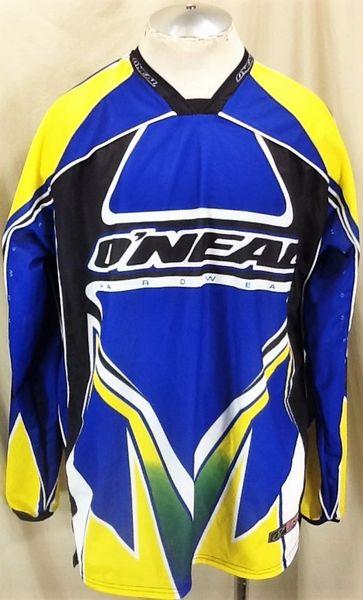 "O'Neal Factory Racing ""Hard Wear"" Motocross (XL) Retro Long Sleeve Graphic Gear Heads Jersey"