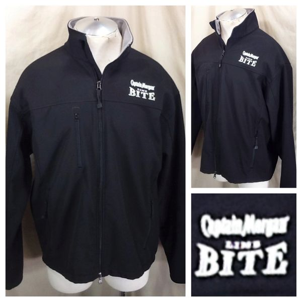 Captain Morgan Lime Bite (XL) Matte Black Breweriana Zip Up Graphic Jacket