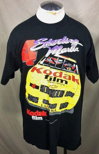 Vintage 90's Sterling Marlin #4 NASCAR Racing (XL) Retro Kodak Film Graphic T-Shirt