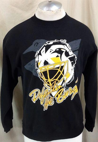 Vintage 90's Pittsburgh Penguins Hockey Club (Med) Retro NHL Graphic Crew Neck Sweatshirt