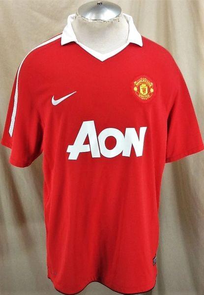 half off bb25f 652e7 Nike Authentic Manchester United Futbol Club (XL) Dri-Fit Short Sleeve  Premier League Jersey