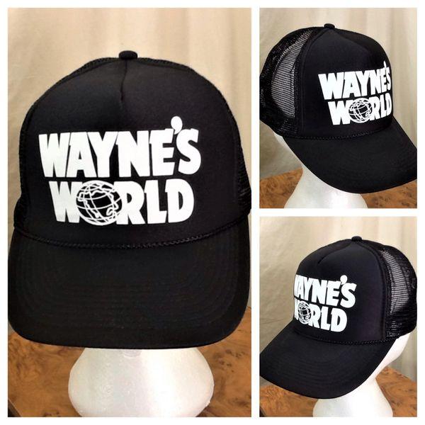 Vintage 90's Wayne's World SNL Mike Meyers & Dana Carvey Graphic Snap Back Trucker Hat