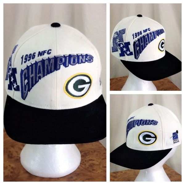 Vintage 1996 Pro Line Green Bay Packers NFC Champions Retro NFL Football Snap Back Hat