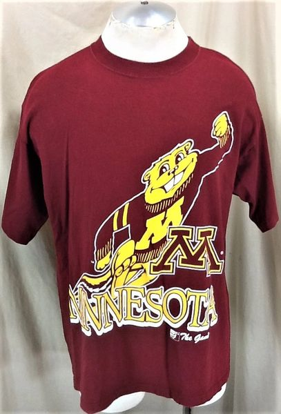 """Vintage The Game Minnesota Golden Gophers """"Goldie"""" (Large) NCAA Graphic T-Shirt"""