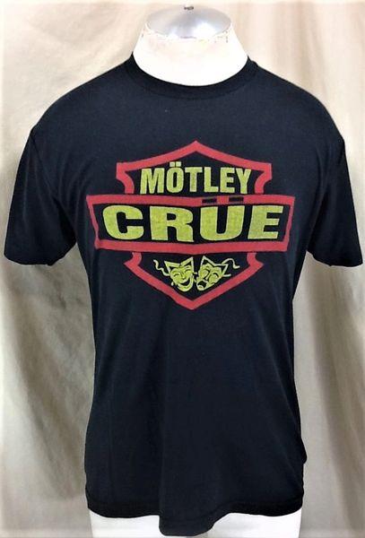 """Vintage Motley Crue """"Theatre of Pain"""" (Large) Graphic Super Thin Concert Tour T-Shirt"""