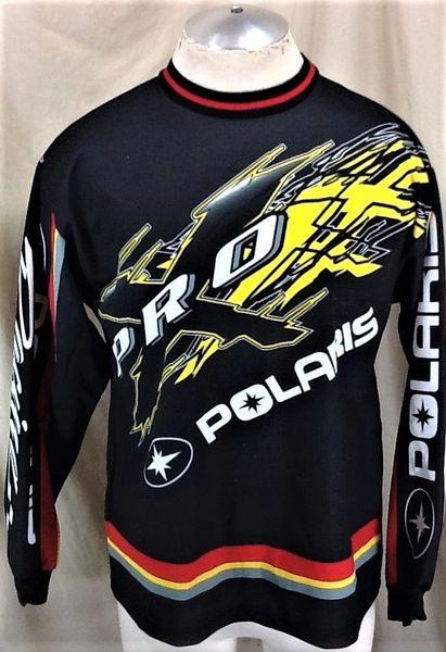 Vintage Pure Polaris Racing Snowmobiles Pro-X (Med) Retro Graphic Long Sleeve Jersey