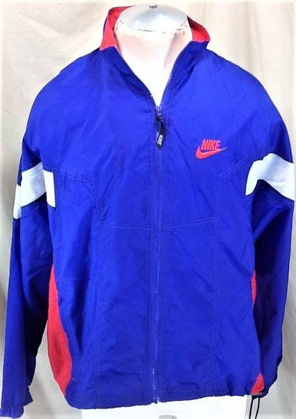 Vintage 90's Nike Full Zip Up Athletic Wear (Med) Retro Active Wear Nylon Windbreaker Jacket