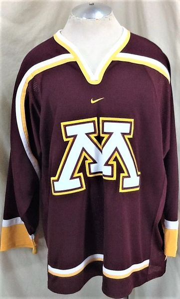 Nike Minnesota Golden Gophers Hockey (XL) Retro NCAA Knit Pullover Hockey Maroon Jersey