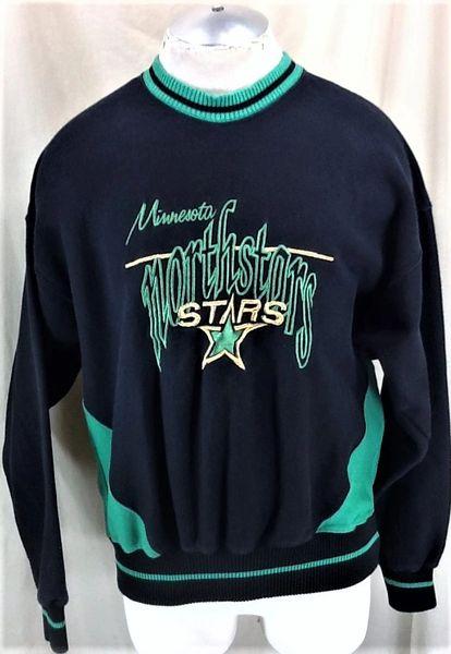 Vintage The Game Minnesota North Stars (Med) Retro NHL Hockey Crew Neck Sweatshirt