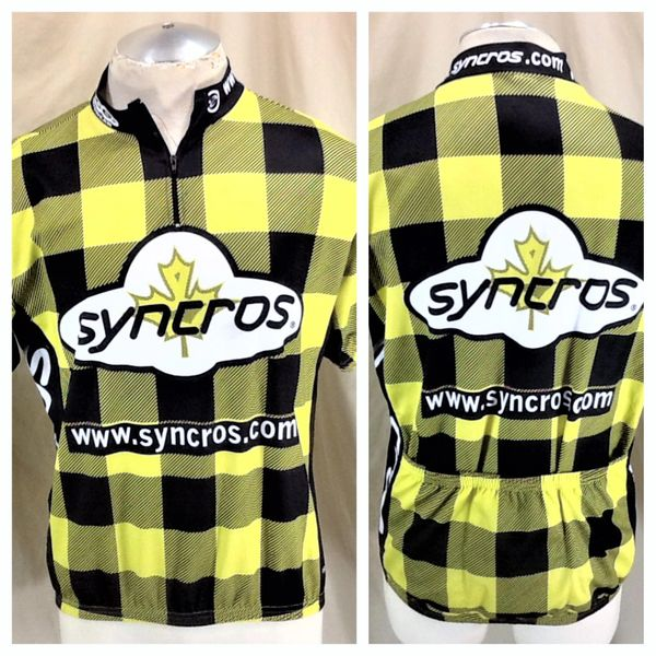 Vintage Syncrose Lumberjack Cycling Team (Med/Large) Retro Rocky Mountains Graphic Biking Jersey