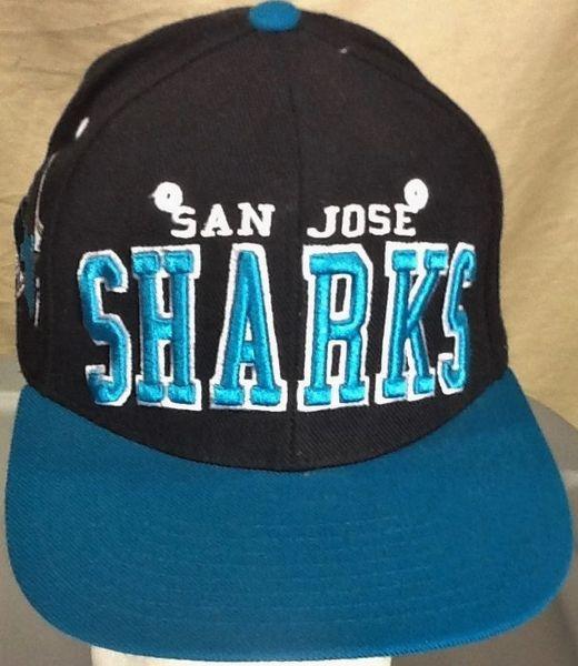 Zephyr San Jose Sharks NHL Hockey Club Retro Embroidered Snap Back Hat