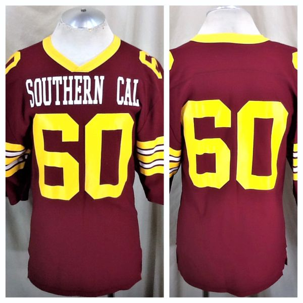 Vintage University of Southern California Trojans #60 (Med/Large) Retro USC NCAA Graphic Football Jersey