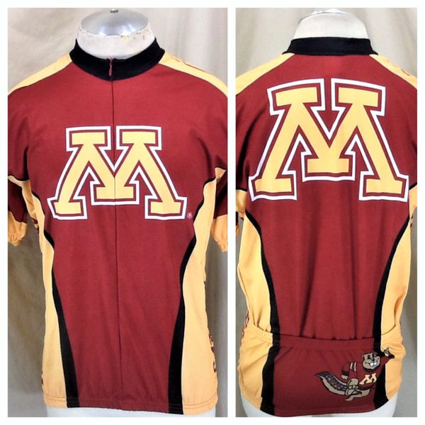 Adrenaline Promotions Minnesota Gophers Cycling (XL) Retro NCAA All Over Graphic Cycling Jersey