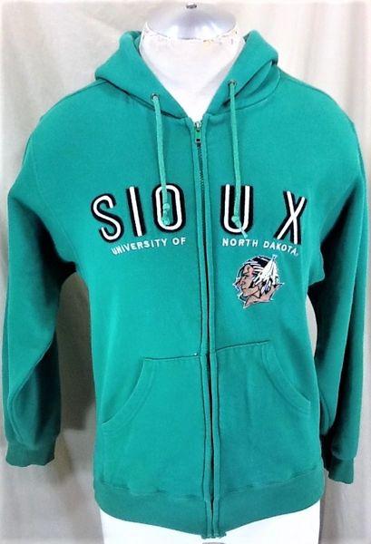 Jansport North Dakota Fighting Sioux (Small) Retro NCAA Old Logo Zip Up Hooded Sweatshirt