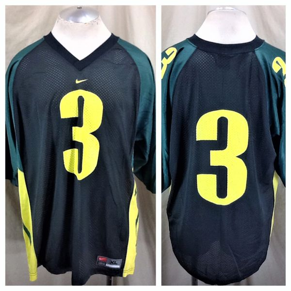 Vintage Nike University of Oregon Ducks #3 (XL) Retro NCAA Graphic Football Jersey