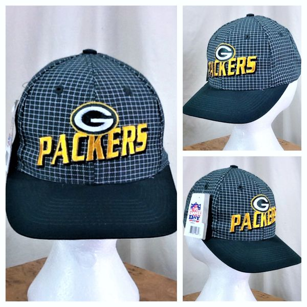 New! Vintage Logo 7 Green Bay Packers Retro NFL Football Embroidered Snap Back Hat