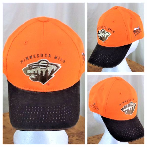 Minnesota Wild Hockey Club & Pheasants Forever Hunting Give-A-Way Orange Velcro Strap Hat