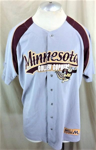 Vintage Jansport Minnesota Gophers Baseball (Large) Retro NCAA Stitched Button Up Jersey