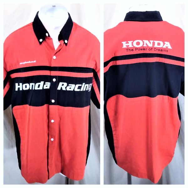 """Honda Racing Red/Black """"The Power of Dreams"""" (XL) Button Up Shop Work Shirt"""