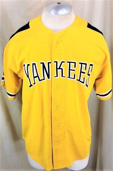 factory price 99292 5b9e5 Vintage 90's Starter New York Yankees (Medium) Button Up Alternative Yellow  MLB Baseball Jersey