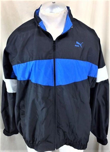 Vintage 90's Puma Active Wear (XL) Retro Streetwear Hip-Hop Zip Up Windbreaker