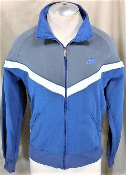 Vintage 90's Nike Active Wear (Med) Retro Hip-Hop Streetwear Zip Up Heavy Track Jacket