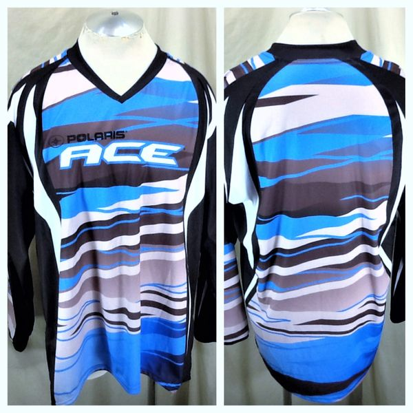 "Polaris Snowmobiles Factory Racing ""Ace"" (XL) Graphic Long Sleeve Polyester Jersey"