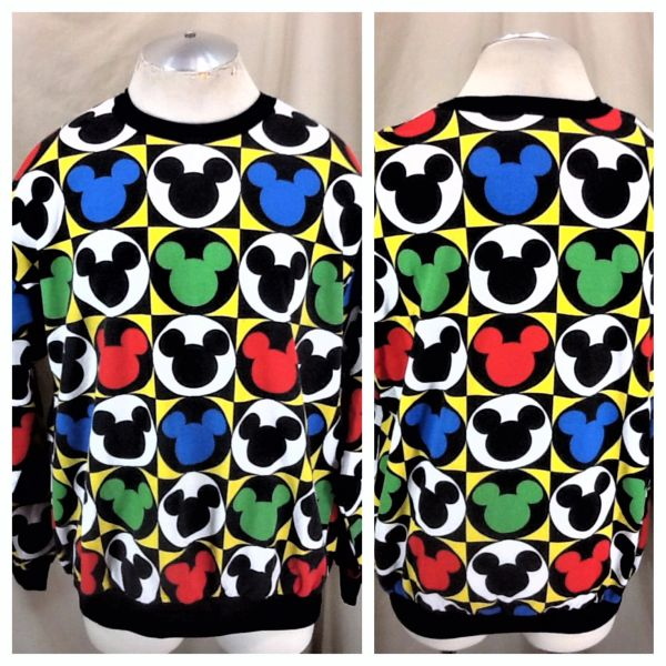 "Vintage 90's Mickey Mouse ""Andy Warhol Style"" (XL) Retro Walt Disney Graphic Sweatshirt"