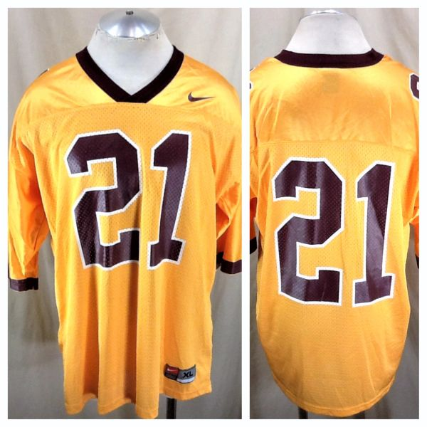 Vintage 90's Nike Minnesota Gophers #21 (XL) Retro NCAA Graphic Football Jersey