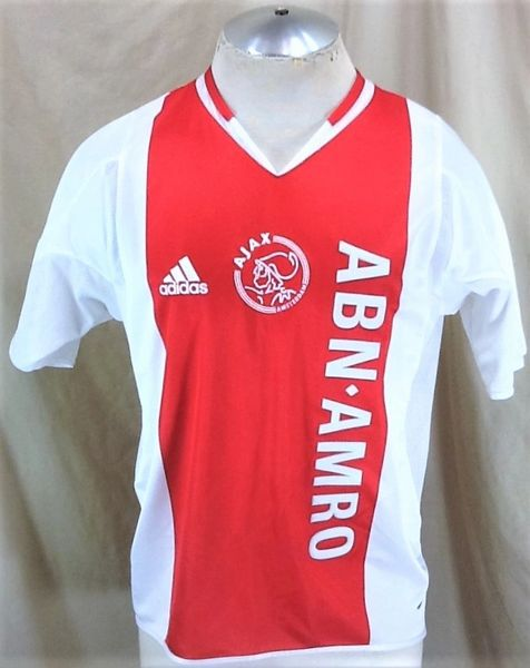 Vintage 2002 Adidas Ajax Amsterdam Netherlands (Sm/Med) Retro ClimaCool Pullover Red Futbol Jersey