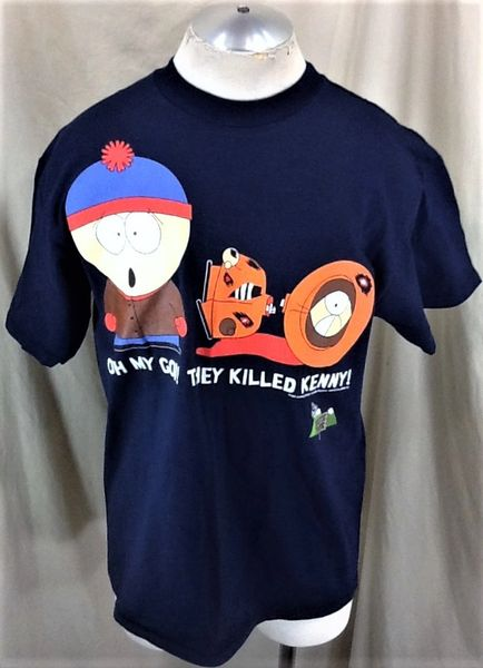 """Vintage 1997 South Park """"They Killed Kenny"""" (Med/Large) Retro Comedy Central Iconic Cartoon T-Shirt"""