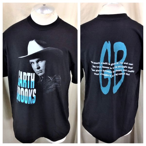 "Vintage 1992 Garth Brooks Classic Country (Large) ""A Thing Called Life"" Graphic ConcertT-Shirt"
