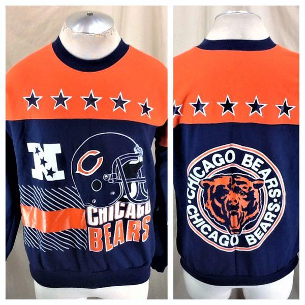 Vintage 90's Garan Chicago Bears Football (Large) Retro NFL Graphic Crew Neck Sweatshirt