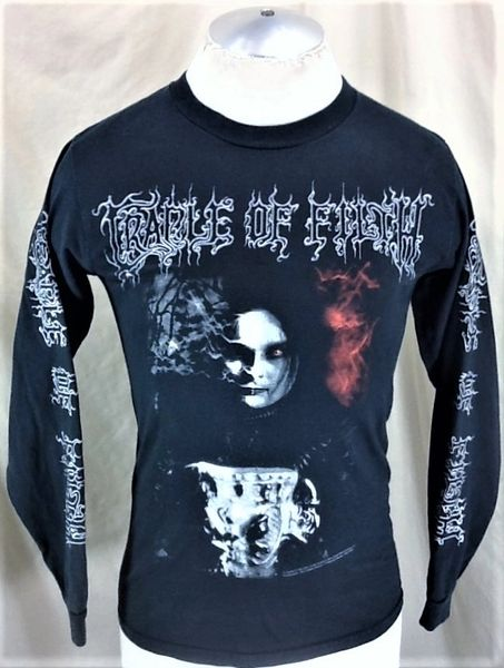 Blue Grape 2004 Cradle of Filth (Small) Retro Graphic Long Sleeve Band Shirt