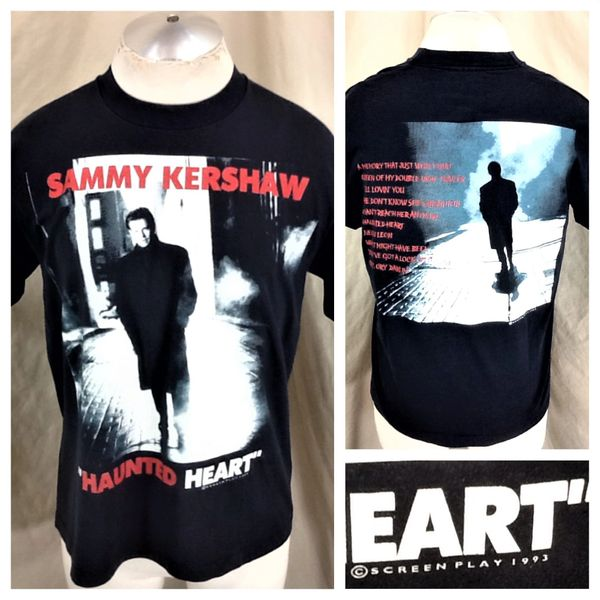 "Vintage 1993 Sammy Kershaw ""Haunted Heart"" (Large) Retro Graphic Country Concert T-Shirt"