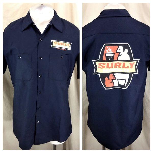 New! Red Kap Surly Brewing Company (Medium) Button Up Breweriana Work Shirt