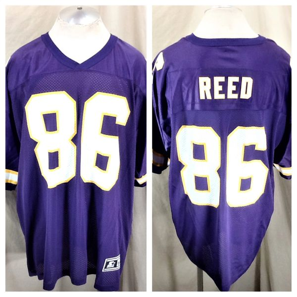 sale retailer b2924 6790d Vintage 90's Starter Jake Reed #86 Minnesota Vikings (54/2XL) Retro NFL  Football Jersey