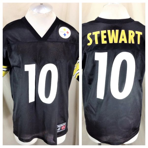 low priced f9775 b7f60 Vintage Logo Athletic Pittsburgh Steelers (Large) Kordell Stewart #10 NFL  Football Jersey