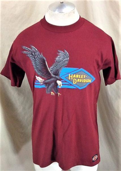 "Vintage 90's Harley Davidson Motorcycles ""Soaring Eagle"" (Large) Retro Graphic Bike Shirt"