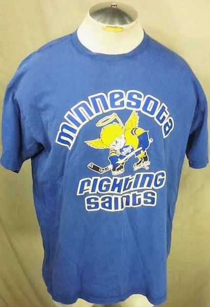 Vintage Minnesota Fighting Saints (XL) Independent Hockey Graphic Shirt