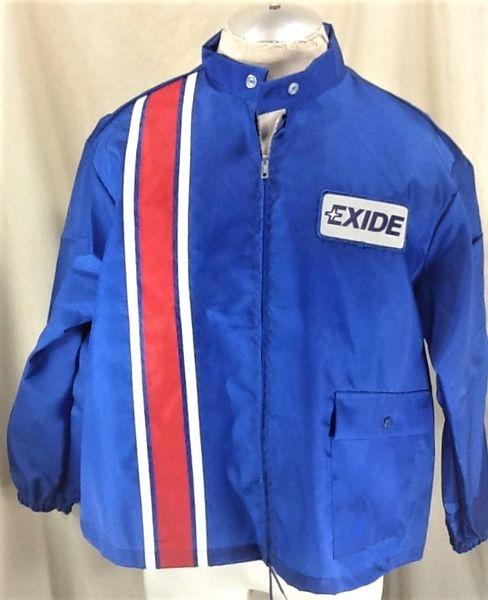 Vintage 80's Swingster Exide Batteries (XL) Retro Gear Heads Zip Up Nylon Jacket